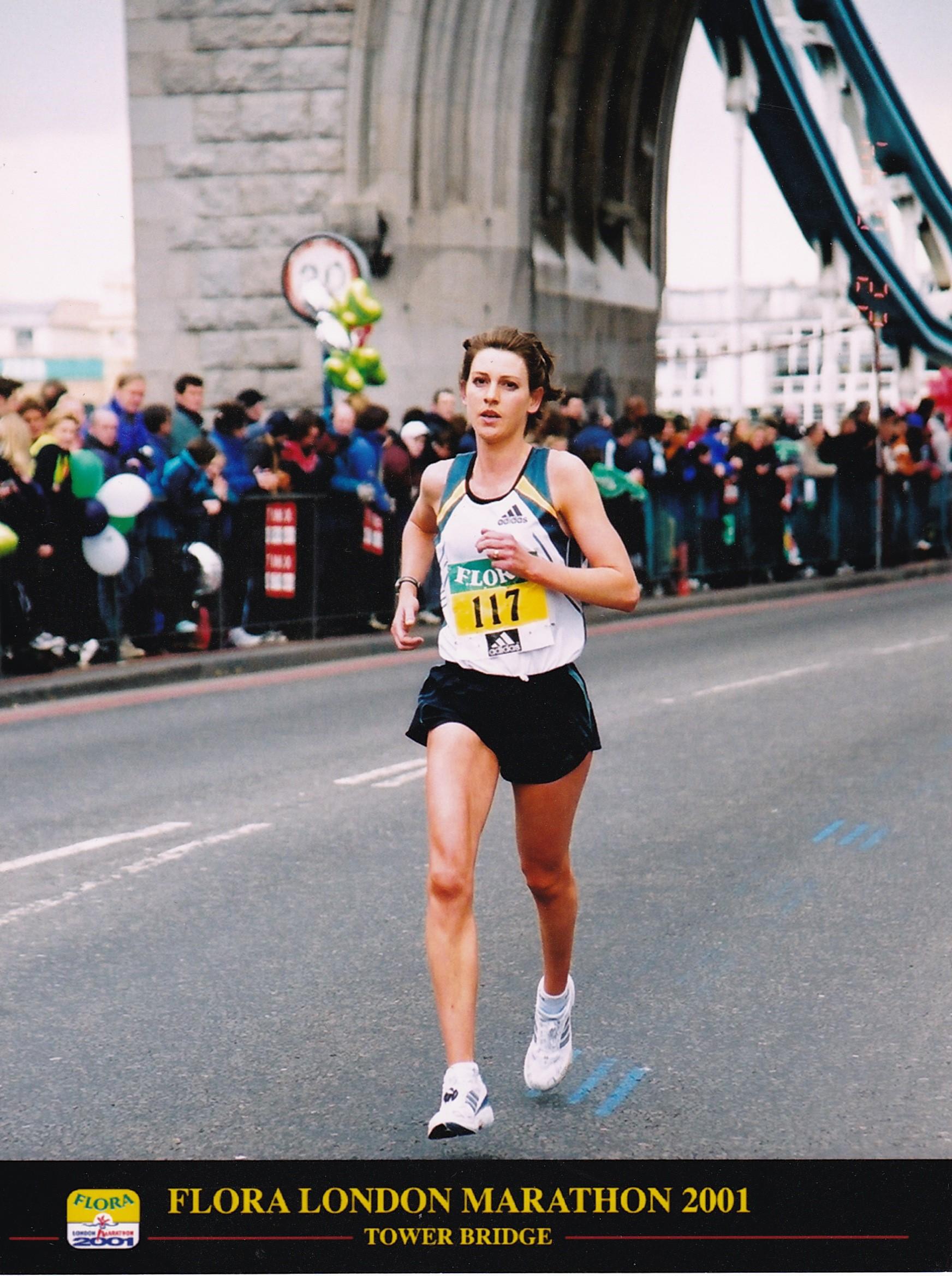 London marathon 2001 bridge