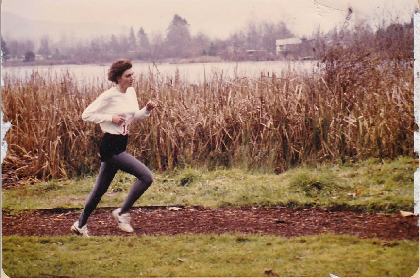 Tania Jones wins gold in 1985 BC High School Cross-Country Championships