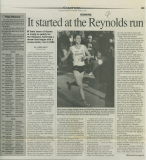It started at the Reynolds run (April 27, 2000)